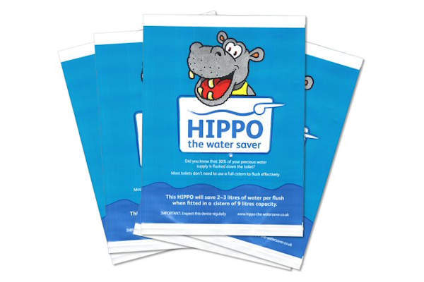 The Hippo Water Saver is one of the devices offered free of charge by many water suppliers in the UK